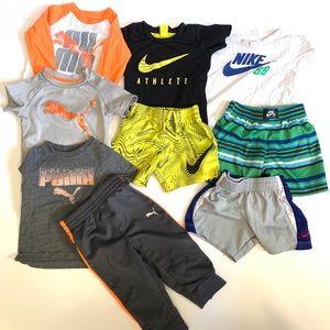 Baby Boy's Nike Puma 9 pc Lot 12 months